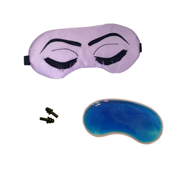 Lavender + Gold or Black Vintage Glam Eyelashes Sleep Mask