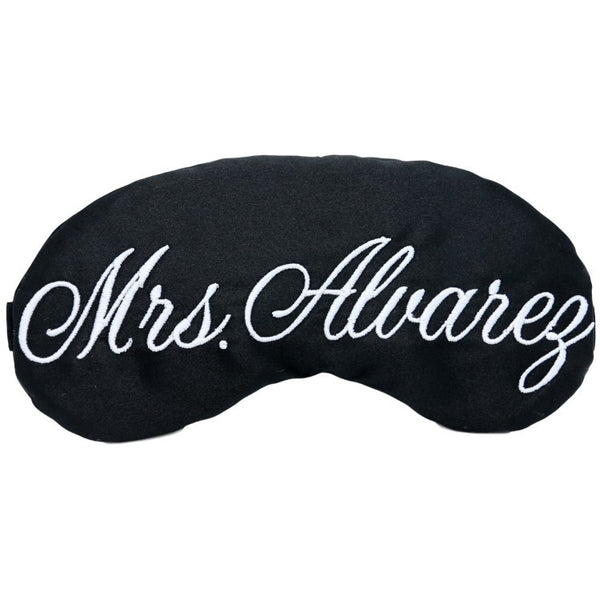 PERSONALIZED MONOGRAMMED SLEEP MASK IN CUSTOM COLORS
