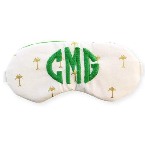 Custom Monogrammed Sleep Mask