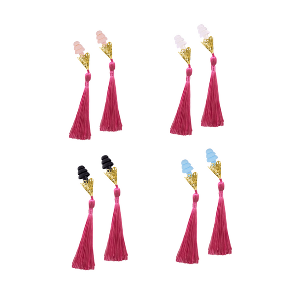 BREAKFAST AT TIFFANY'S INSPIRED PEONY TASSEL SLEEPING EARPLUGS