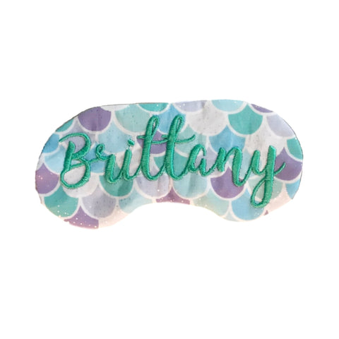 Personalized Mermaid Sleep Mask
