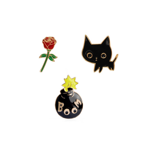 Love Bomb Lapel Pin Set