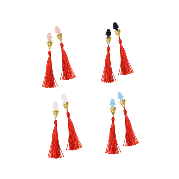 Breakfast At Tiffany's Inspired Red Tassel Sleeping Earplugs