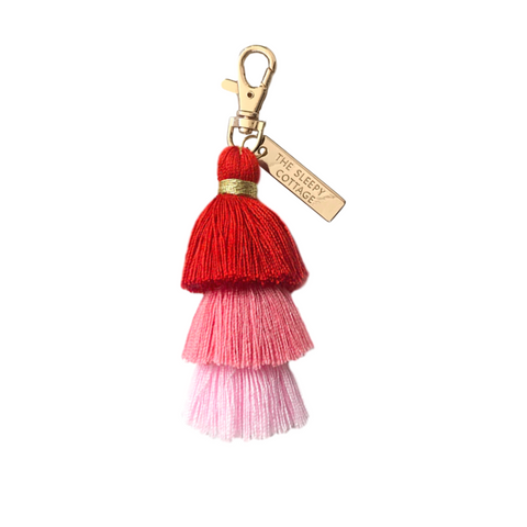 The Girl Gang Pagoda Tassel Keychain and Bag Charm