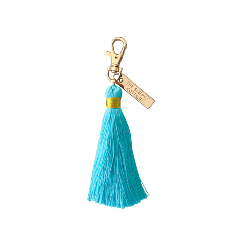 Breakfast at Tiffany's Tassel Tassel Keychain and Bag Charm