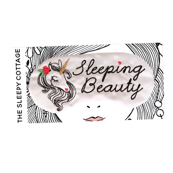 Sleeping Beauty Unicorn Sleep Mask with Personalization Option