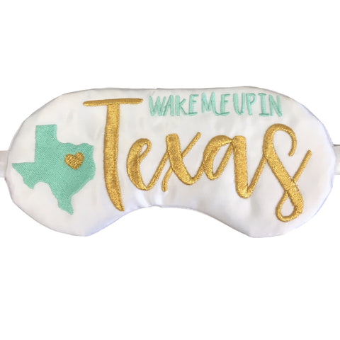 Wake Me Up In Texas Eye Mask