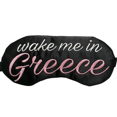 Wake Me In Greece Eye Mask