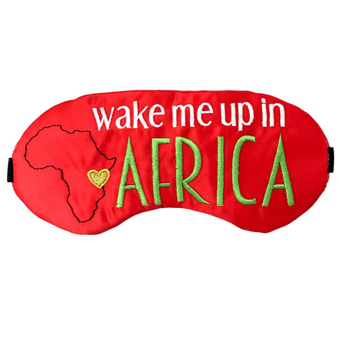 Wake Me Up In Africa Sleep Mask - Sleep Mask