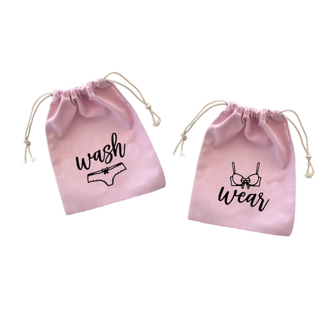 Wash Wear Pink Lingerie Bag Set
