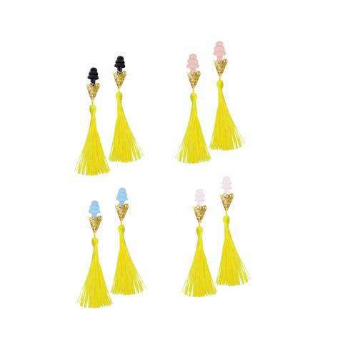 Breakfast At Tiffany's Inspired Yellow Sunshine Tassel Sleeping Earplugs