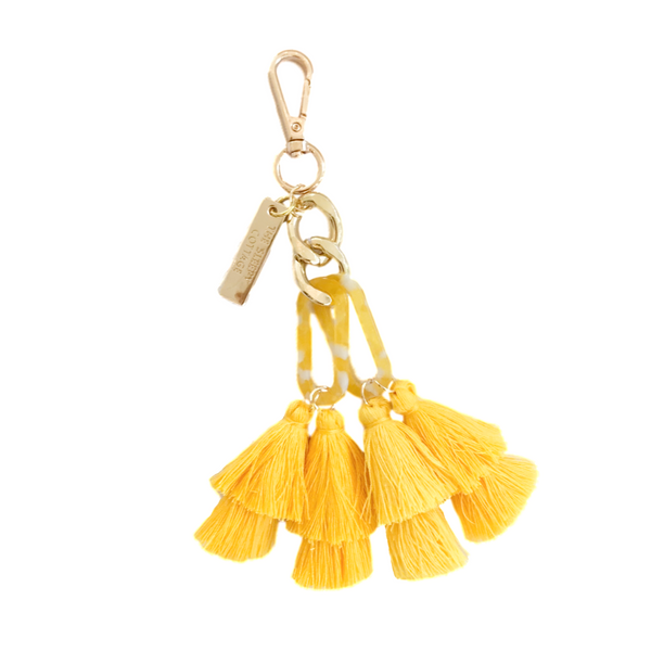 Summer Shine - Yellow Acrylic Tassel Charm