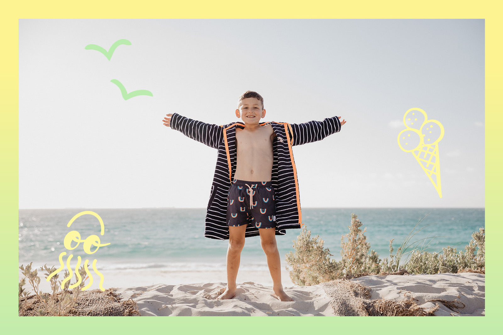 Kids' Hooded Towels (Swim Robes) UPF 50+
