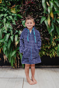 Baby and toddler navy beach robe