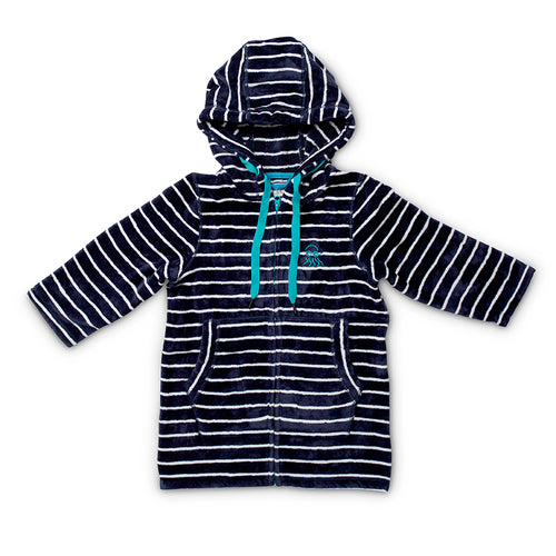Swim Hoodie Navy with Blue Trims – Babies + Tots