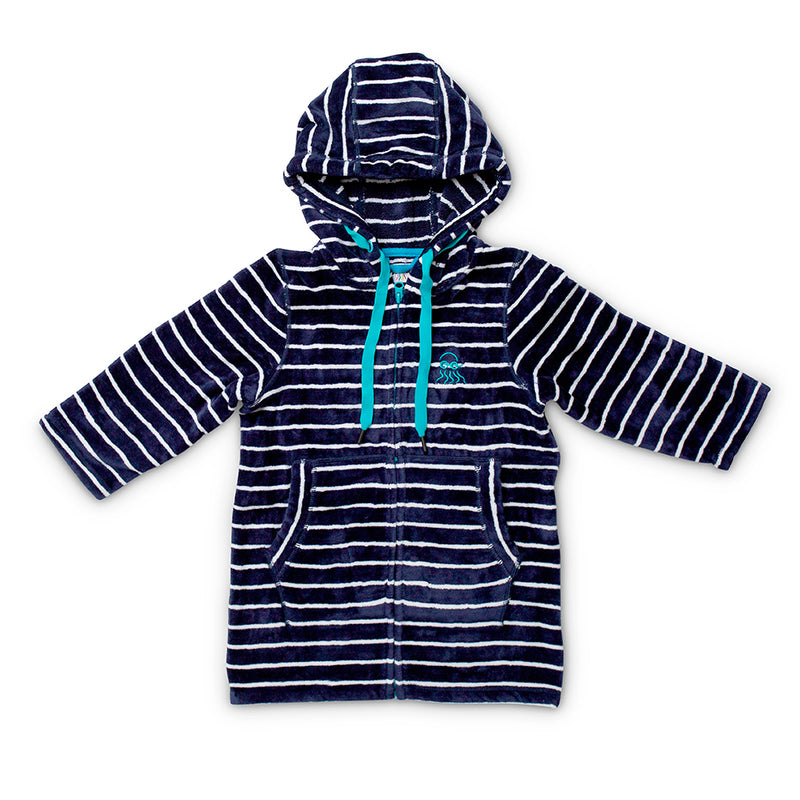 Flay lay of navy adults swim hoody