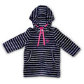 Swim Hoodie Navy with Pink Trims - Adult