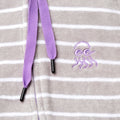 Close up of girls swim hoodie with purple