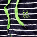 Swim Hoodie Navy with Green Trims
