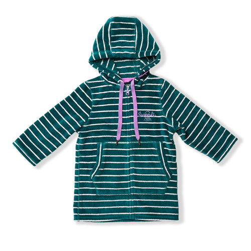 Swim Hoodie Turquoise Waters with Purple Trim