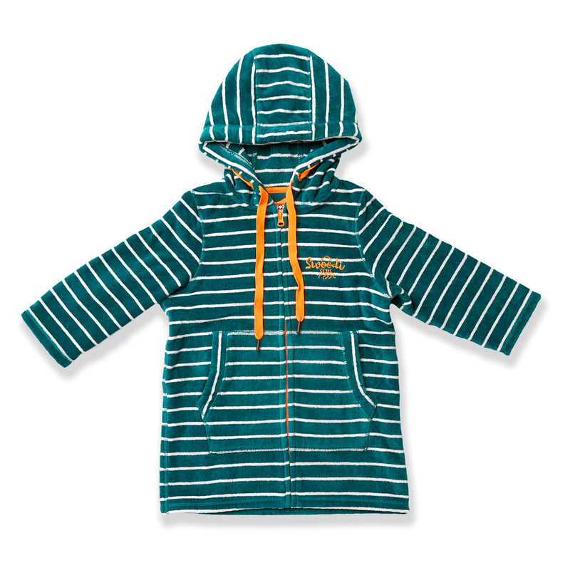 Swim Hoodie Turquoise Waters with Citrus Trim - Babies + Tots