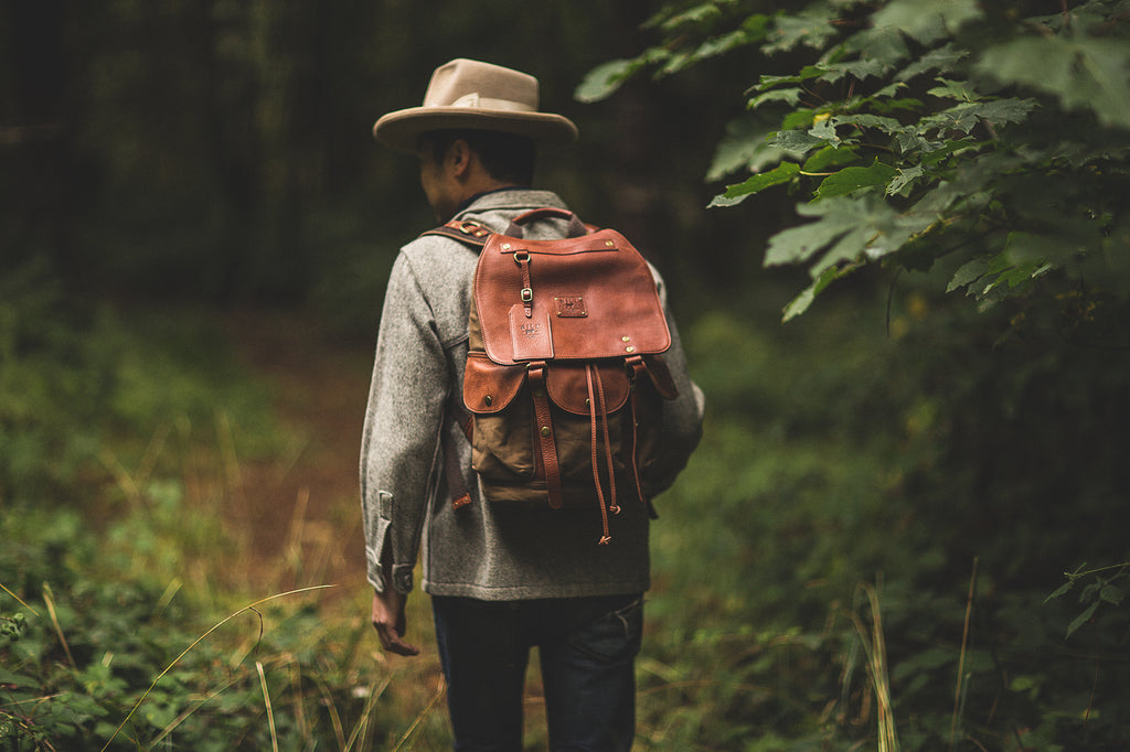 Lennon Backpack in the forest