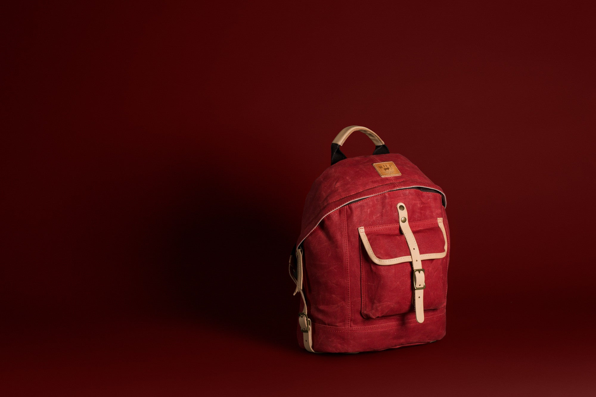 Wax Coated Canas Dome Backpack