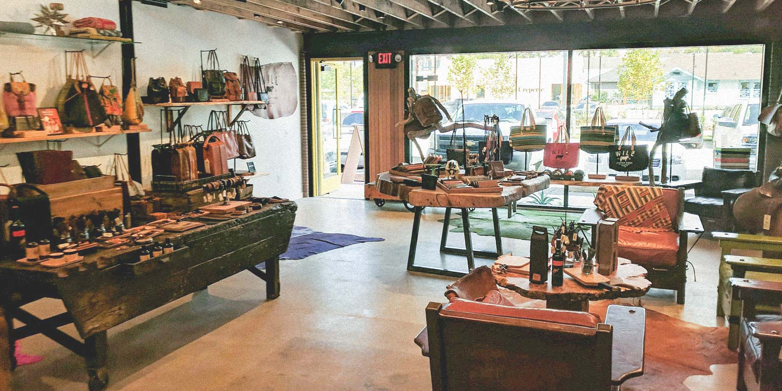 houston store will leather goods