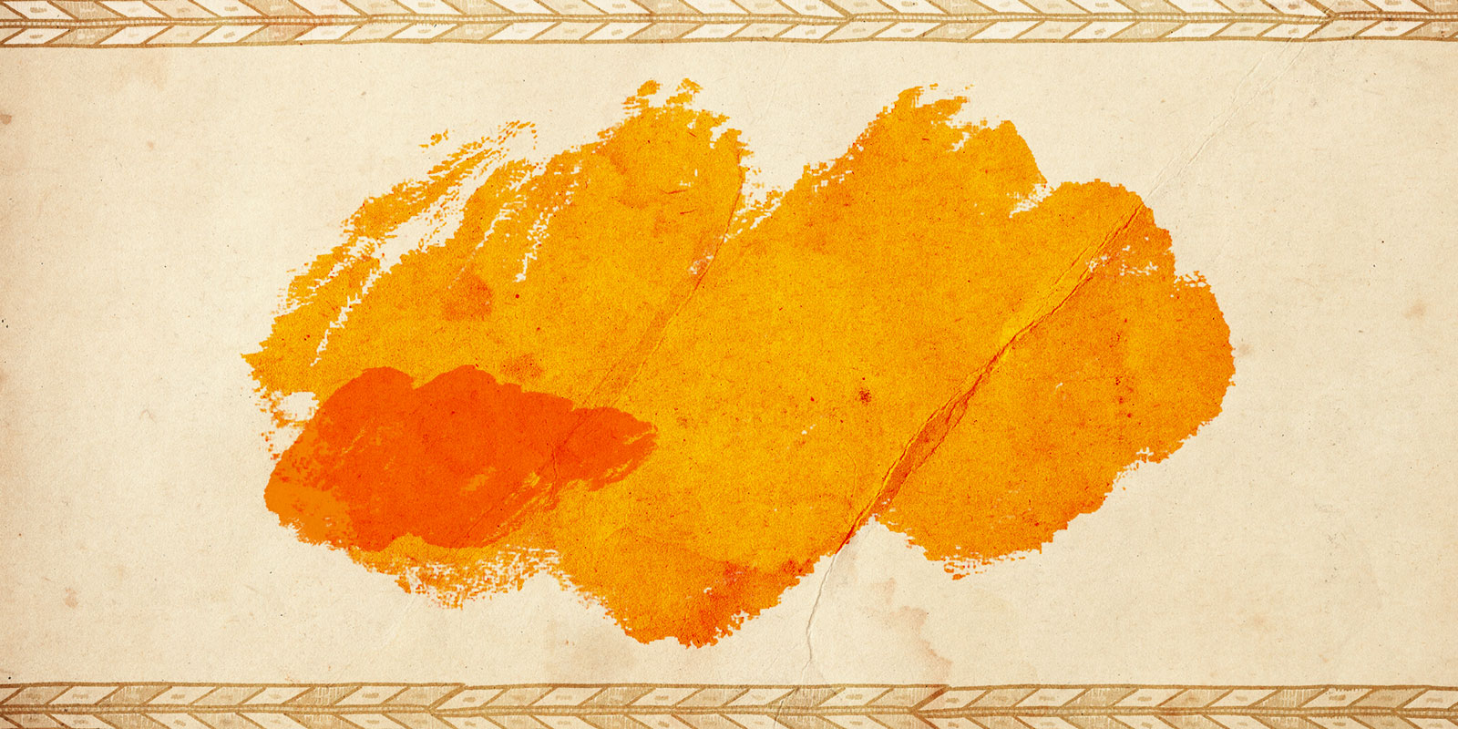 hand painted marigold dye