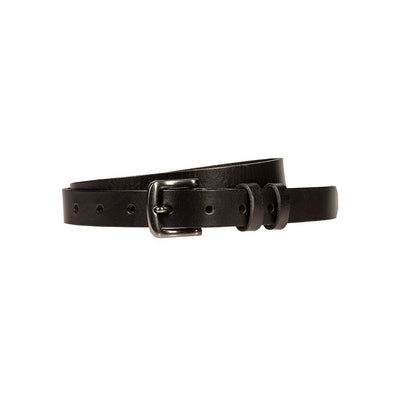 black 25mm luxe belt