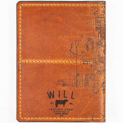 Houston City Engraved Design Passport Case Back