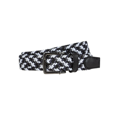 NIKE Men's Multi-Color Stretch Woven Belt Belt WillLeatherGoods 32 Black/White/Grey
