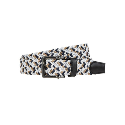 NIKE Men's Multi-Color Stretch Woven Belt Belt WillLeatherGoods 32 Obsidian/Khaki/Bone