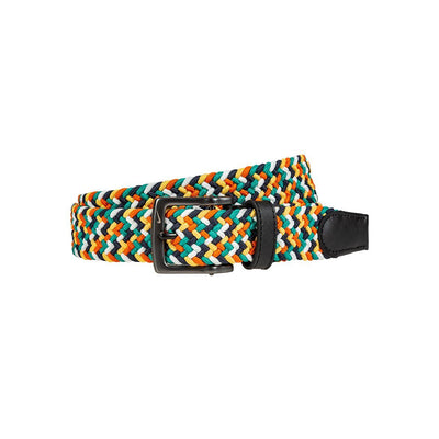 NIKE Men's Multi-Color Stretch Woven Belt Belt WillLeatherGoods 32 Sail/Star/Green