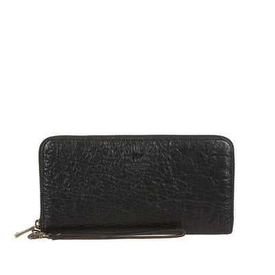 Imogene Checkbook Clutch Wallet WillLeatherGoods Black