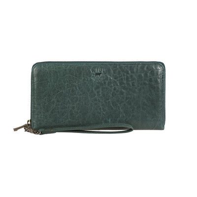 Imogene Checkbook Clutch Wallet WillLeatherGoods Pine