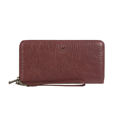 Imogene Checkbook Clutch Wallet WillLeatherGoods Wine