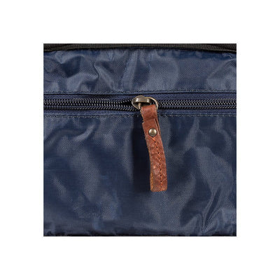 Blue Lining with Pull Tab Zipper