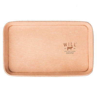 Natural Leather Tray Office WillLeatherGoods Natural Veg
