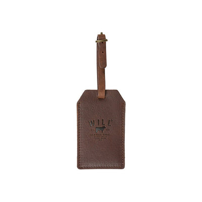 Brown Signature Leather Luggage Tag