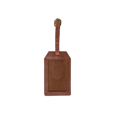 Signature Leather Luggage Tag Luggage Tag WillLeatherGoods