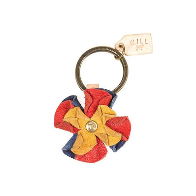 Red Multi Flower Keychain