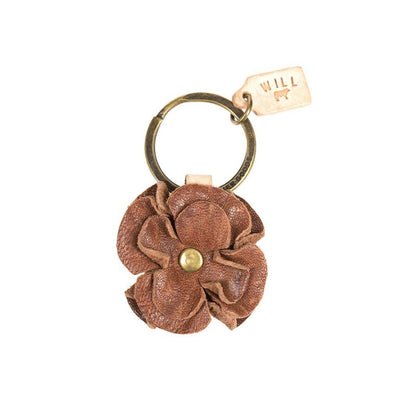 Tan Flower Keychain
