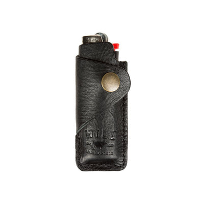 Signature Leather Lighter Cover Office WillLeatherGoods Black