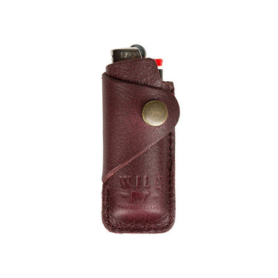 Signature Leather Lighter Cover Office WillLeatherGoods Oxblood