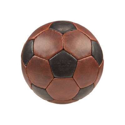 Leather Soccer Ball Sport WillLeatherGoods Brown/Black