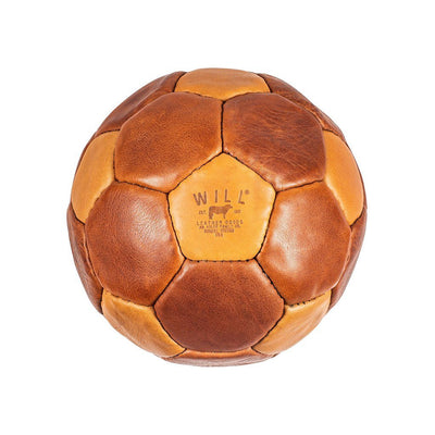 Leather Soccer Ball Sport WillLeatherGoods Cognac/Tan