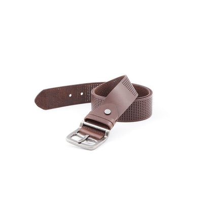 Wide Perforated Belt Belt WillLeatherGoods LAST CHANCE