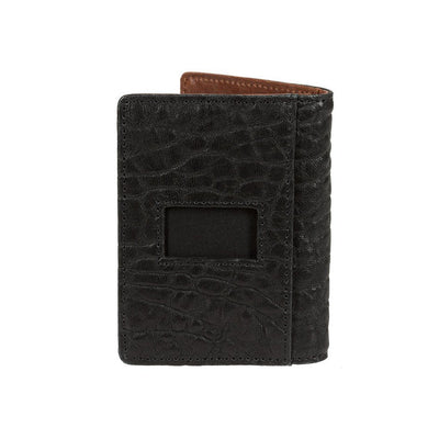Black and Cognac Flip Front Pocket Wallet ID Pocket