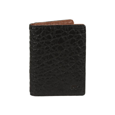 Black Cognac Flip Front Pocket Wallet Washed Italian Lambskin